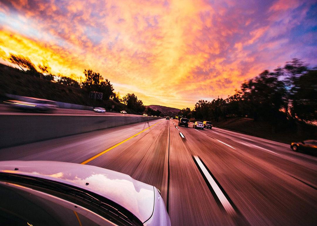 Motorway at Dusk in Europe