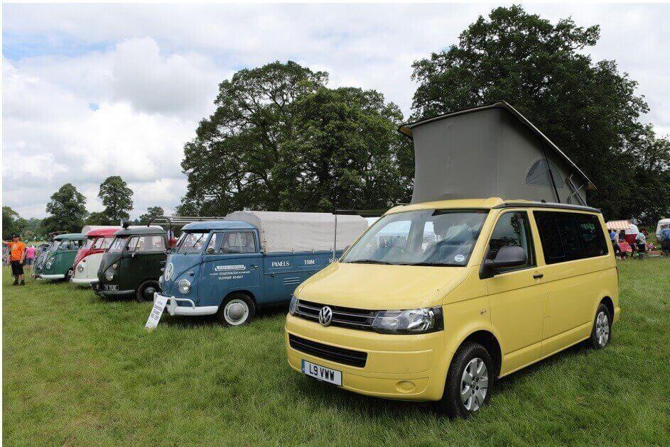 Row of VW Campers at Camper Jam