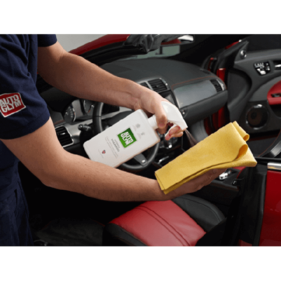 Cleaning Interior of a car with Autoglym Interior Shampoo