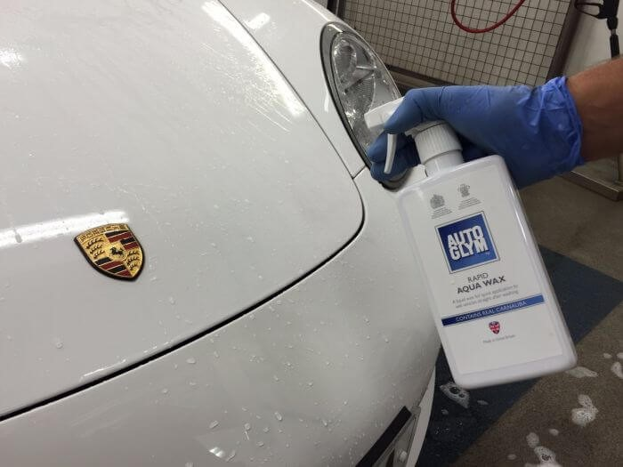 Cleaning Porsche with Autoglym Aqua Wax