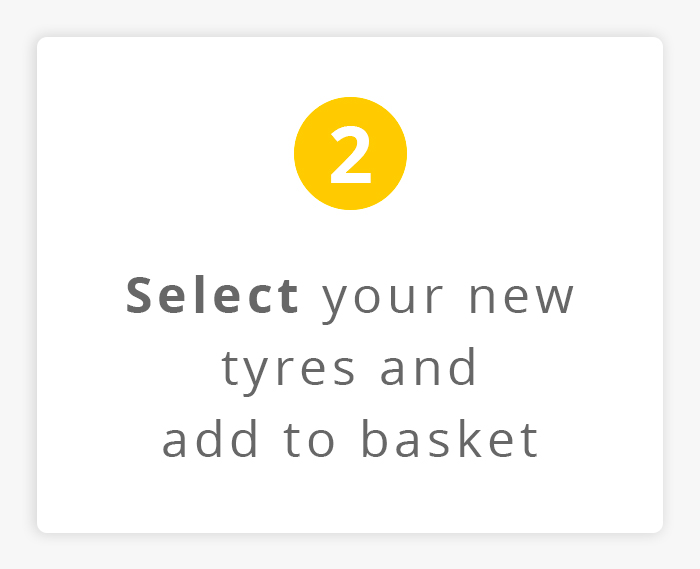 Select your new tyres and add to basket