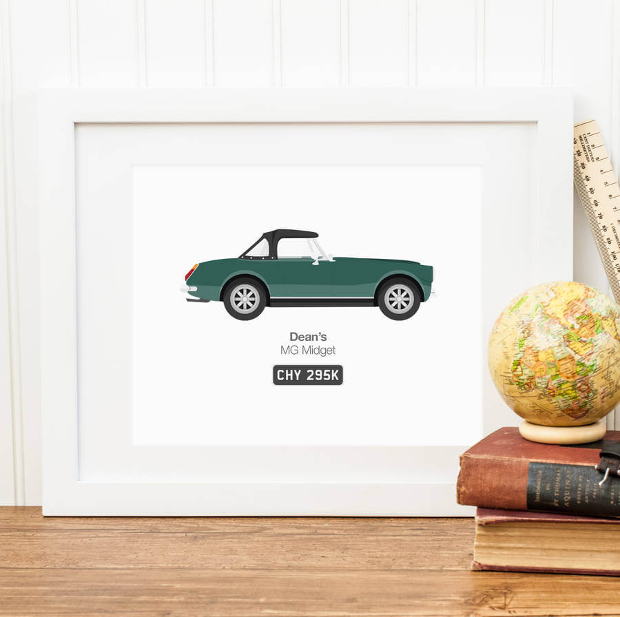 Father's Day Car Illustration RyRy Shop