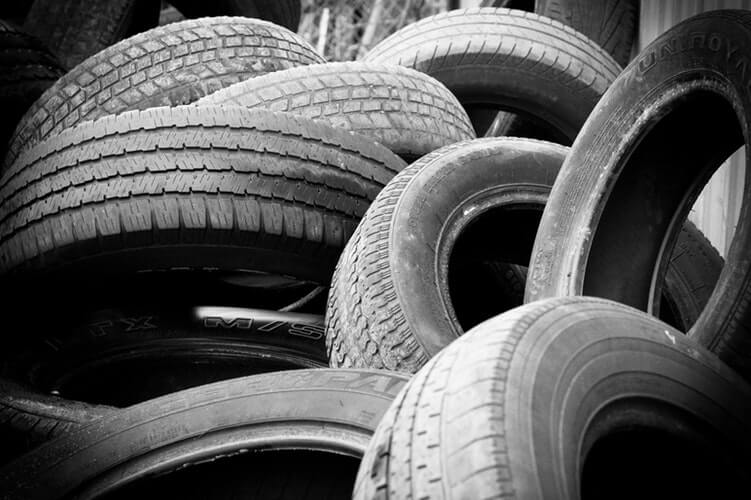 Heap of Car Tyres